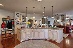 open floor plan  with large custom kitchen island 294 Chesterfield, Palmyra